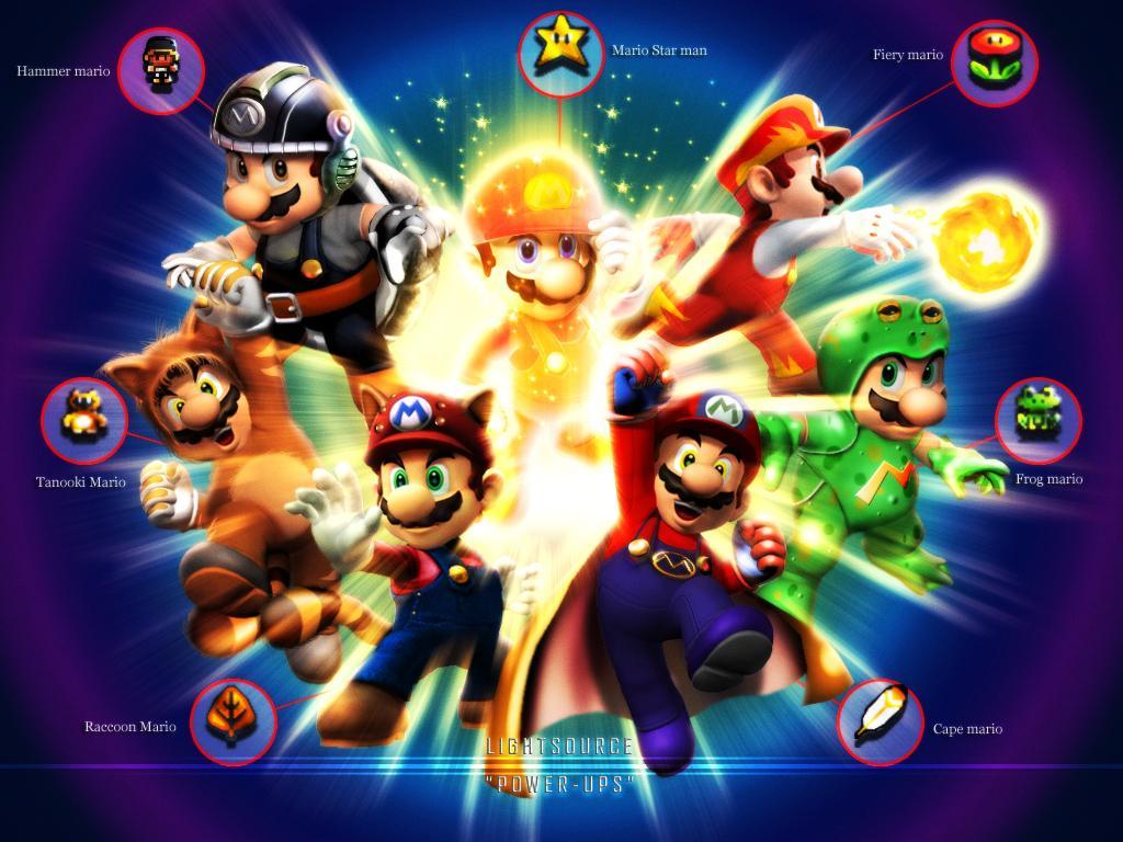 Les principales transformations de Mario