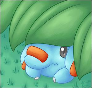 Quel est le Pokémon caché sous ce tas de feuilles ?