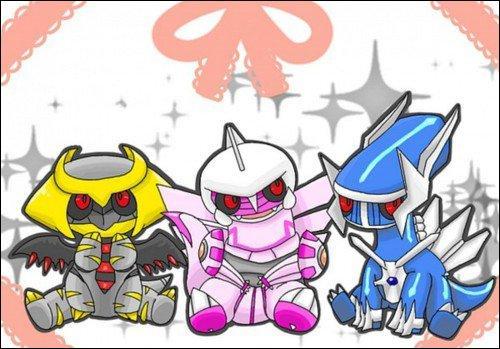 Parmi ces trois Pokémon légendaires, lequel vit dans le monde distorsion ?