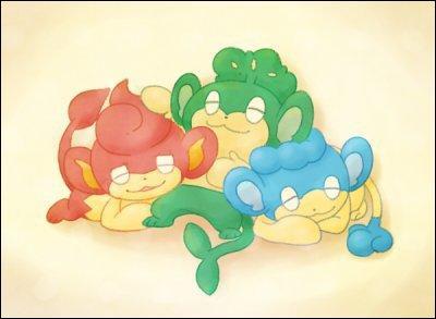 Dans quelle région peut-on rencontrer ces trois singes Pokémon ?
