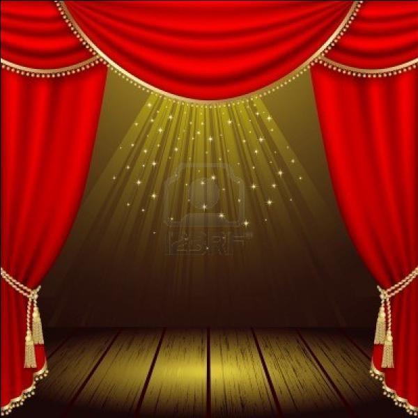 Comment s'appelle la sortie à gauche des spectateurs, sur la scène ?