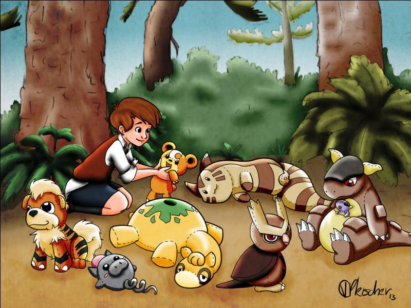 Qui sont les Pokémon utilisés pour reconstruire cette scène de  Winnie l'ourson  ? (3 réponses)