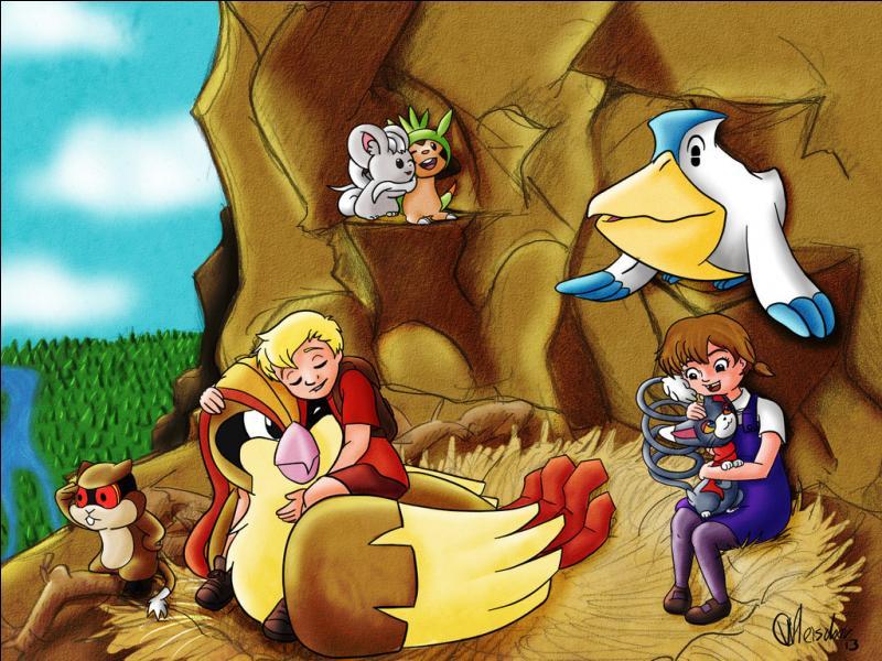"""Quel est le Pokémon Oiseau qui joue Marahute, l'aigle royal dans """"Bernard et Bianca au pays des Kangourous"""" ?"""
