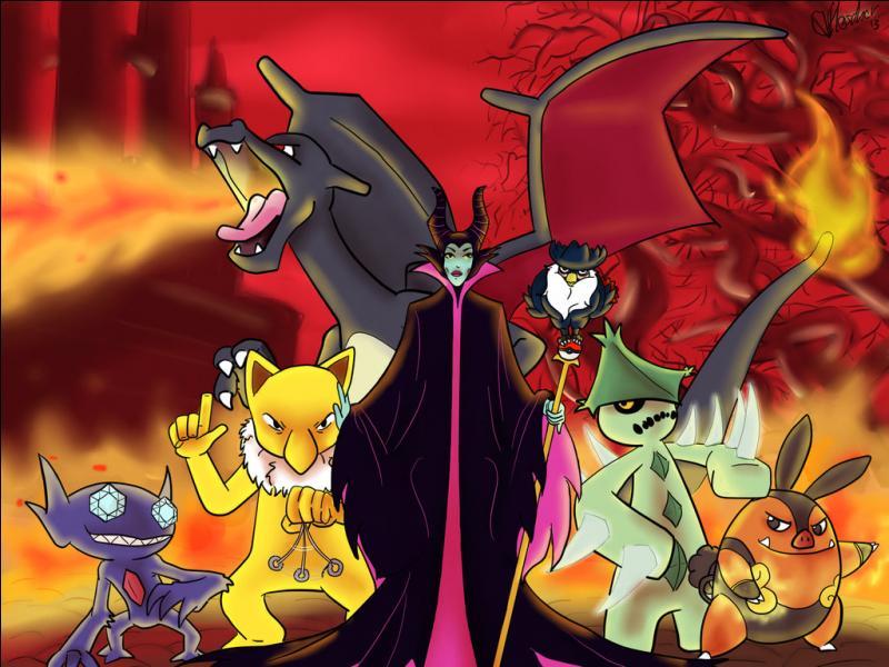"""Lequel de ces Pokémon ressemble le plus à la créature en laquelle Maléfique se transforme dans la """"Belle au bois Dormant"""", avant qu'elle se fasse tuer par le prince d'Aurore ?"""