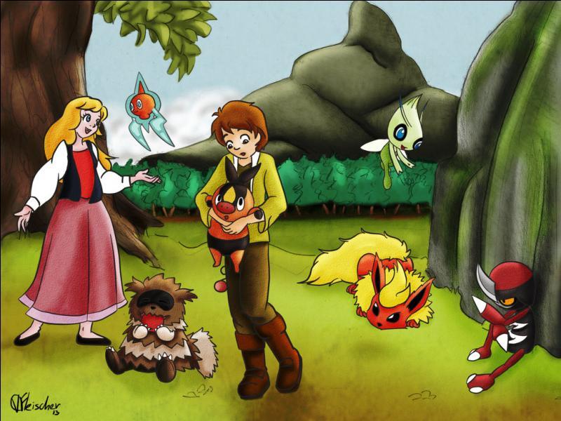"""Quel personnage de """"Taram et le chaudron magique"""" est représenté par le Pokémon Gruikui sur la photo ?"""