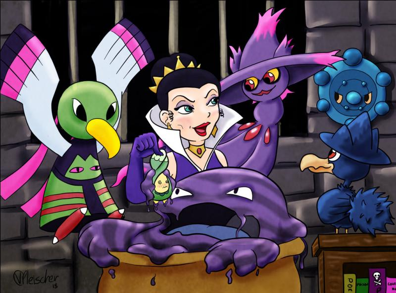 Quels Pokémon entourent la méchante belle-mère de Blanche-Neige ? (3 réponses)