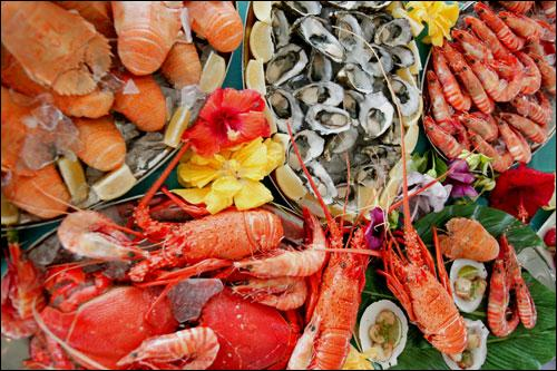 "Quel est le traduction de ""fruits de mer"" en anglais?"