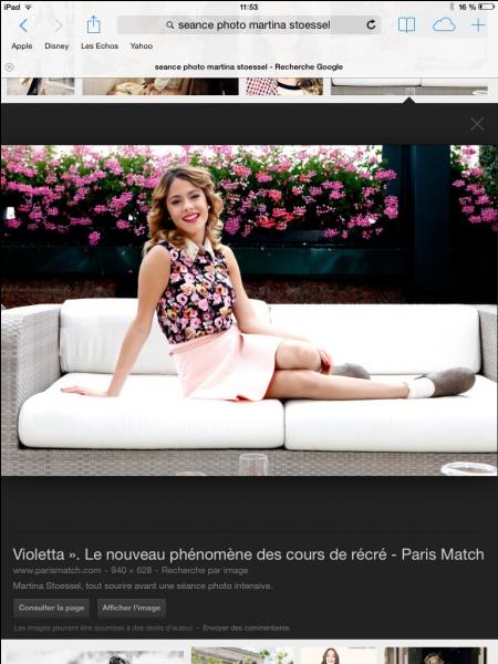 Violetta est ...
