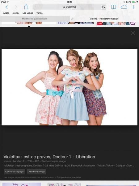 Les meilleures amies de Violetta sont ...