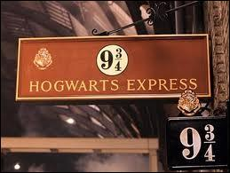 Sur la voie neuf trois quart qui Harry croît-il voir devant la porte d'entrée du train ?