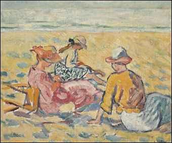 Trois femmes à la plage.