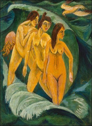 Trois baigneuses.