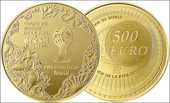 Qui a sorti, pour cet événement, une collection de pièces (des euros) en or et argent ?