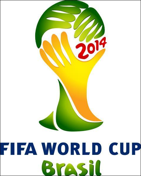 Le logo de l'édition brésilienne imite la forme du trophée actuel de la coupe du monde. Que forment les trois mains réunies ?