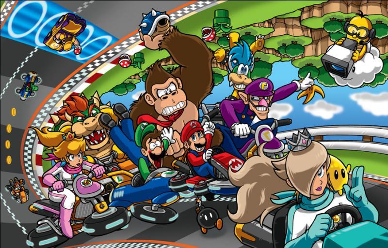 Comment se fait-il que les personnages sont à l'envers sur le circuit ?