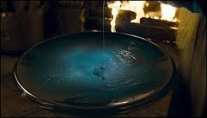 Comment s'appelle l'instrument magique qui permet à Dumbledore de revoir ses souvenirs ?