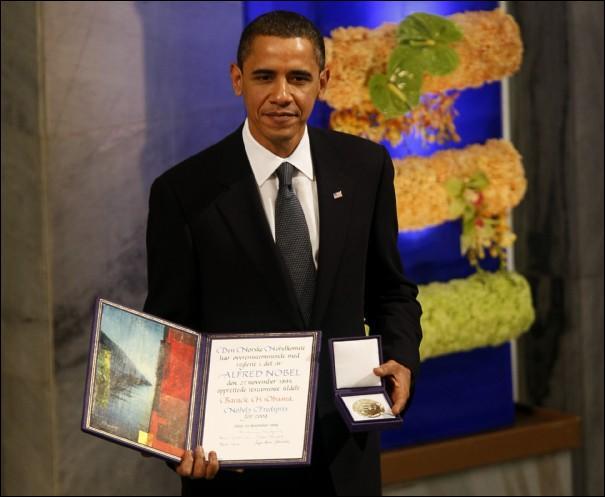 En quelle année Barack Obama a-t-il reçu le prix Nobel de la paix ?