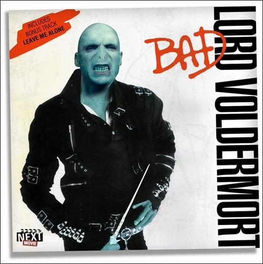 """Lord Voldemort s'est emparé de la pochette du célèbre chanteur de """"Bad"""", quel est ce chanteur ?"""