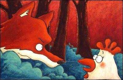 """Nwt s'inspire de La Fontaine pour vous écrire une fable : """"La poule et le renard"""". Compère Renard rusé veut se faire une omelette, il convoite les oeufs de Dame Poulette, comment donc s'y prend-il ?"""