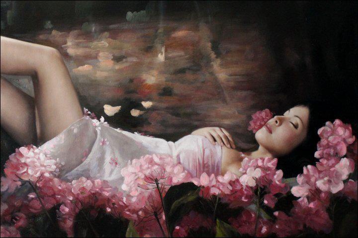 """Qui chantait """"Laisse moi t'endormir une nuit boréale sur un lit de pétales, dans ton corps cathédrale, et ne plus revenir"""" ?"""