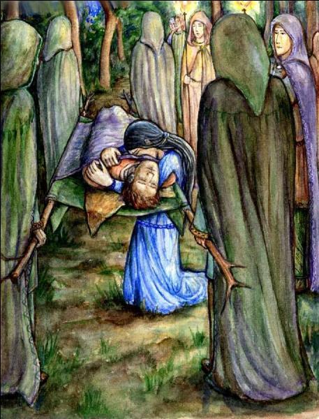 Où moururent ensemble Beren et Lúthien ?