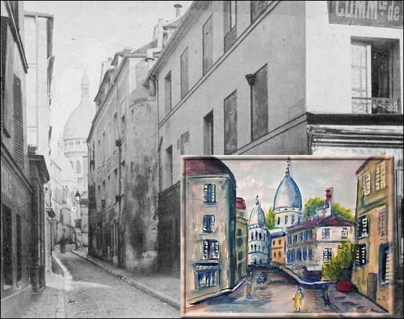 En 1897, ce peintre habite à Paris pour plusieurs mois. Il y retourne en décembre 1899. Son aquarelle du Sacré Coeur de Montmartre date de cette époque...