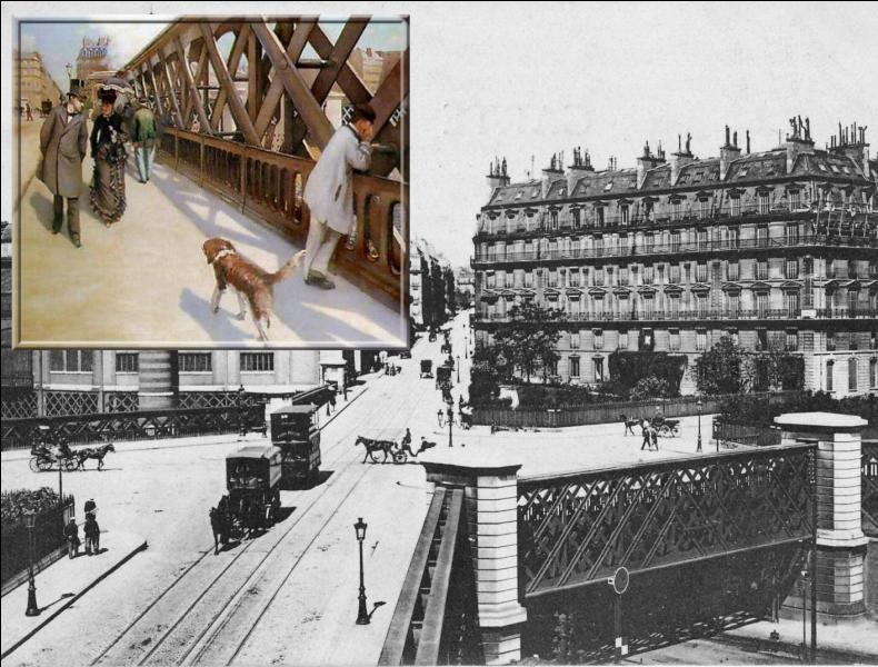 Quel pont parisien a représenté Gustave Caillebotte dans cette toile ?
