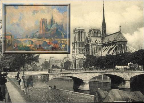 Paris, le pont de l'Archevêché et Notre-Dame vus du Quai de la Tournelle est l'oeuvre de quel peintre normand ?