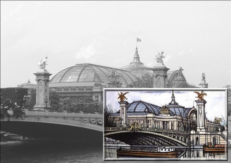 """Peintre expressionniste français, composant aussi bien des personnages que des figures, animaux, paysages, il est l'auteur de ce tableau intitulé """" le Grand Palais"""" ..."""