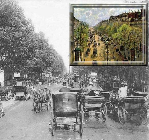 Quel boulevard de Paris est représenté sur cette toile de Camille Pissarro peinte au printemps 1897 ?
