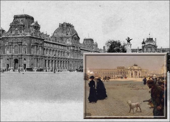 """Ami de Manet et de Degas, ce peintre italien s'intéresse à la vie moderne et, comme dans cette toile intitulée """"La Place de Carrousel """" dépeint les toilettes et les modes de l'élégance parisienne..."""