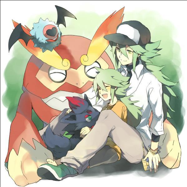 Qui est le personnage entouré de Pokémon ?
