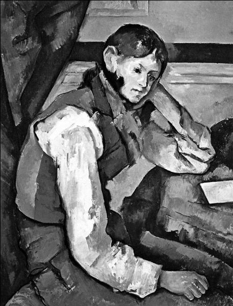 """Paul Cézanne a réalisé la toile """"Garçon au gilet ......"""" ?"""