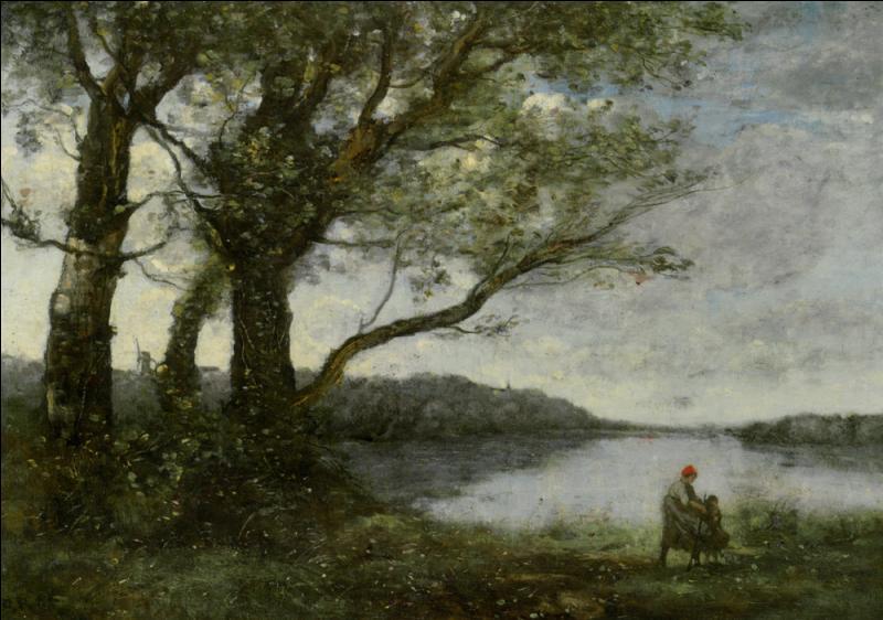 Qui a peint Les trois arbres près du lac ?