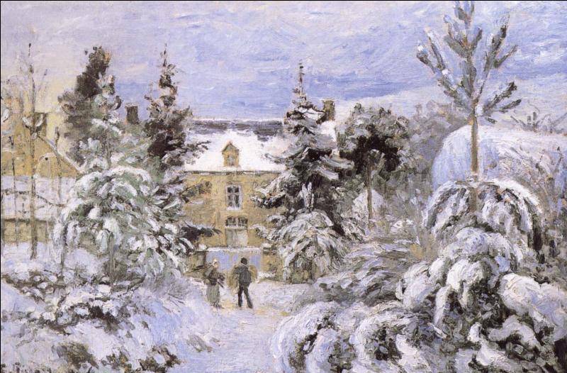 Qui a peint La maison sous la neige ?