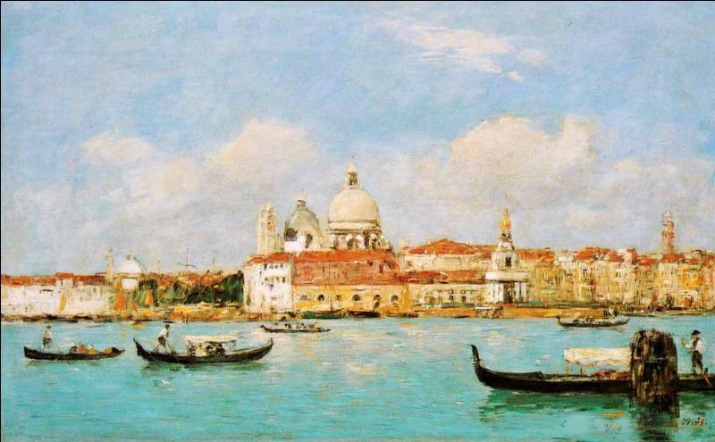 Qui a peint Venise La Salute et le grand canal ?