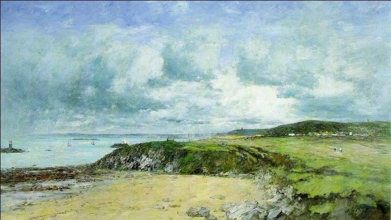Il est né à Honfleur, c'est sans doute pour cela qu'il peignit avec talent la mer, ses rochers et ses plages. Qui est ce peintre ?