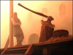 La décapitation est l'une des méthodes de mise à mort les plus utilisées à travers les siècles. Comment appelle-t-on le bloc de bois sur lequel le condamné devait y poser sa tête afin de se la faire trancher ?