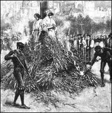 Au Moyen Age, l'Inquisition était fort connue pour condamner de nombreuses victimes au supplice du bûcher. Une grande majorité d'entre elles furent des femmes. Lequel de ces motifs était le moins souvent puni par la condamnation au bûcher ?