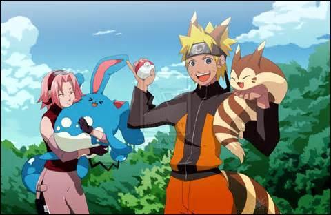 Quel Pokémon Sakura a-t-elle dans les bras ?