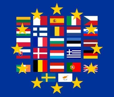 Les drapeaux de L'Union européenne