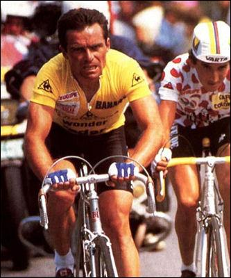 Enfin, on termine par celui qui remporta dix Grands Tours, dont 5 Tours de France. Toutefois, bien plus que ses victoires, c'est son tempérament atypique qui lui a valu les faveurs du public durant toute sa carrière. Attaquant infatigable, il pratiquait un cyclisme d'attaque, d'audace et de panache qu'il prône toujours aujourd'hui.