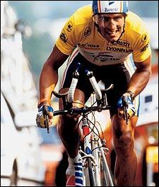 Formidable rouleur, il forgea ses 5 victoires du Tour de France dans les contre-la-montre et se montrait d'une résistance extrême dans les étapes de montagne où il s'accrochait aux plus grands grimpeurs tels que Pantani ou Chiappuci. Réputé pour son fair-play, il demeure célèbre dans le peloton pour son sourire coincé entre le rictus douloureux et l'amusement enfantin.