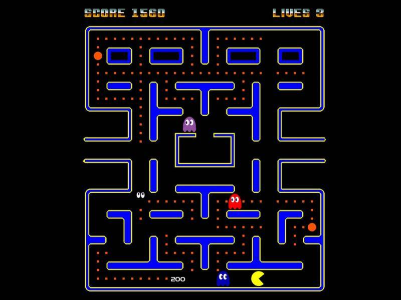 La star des jeux d'arcades qui dévore les fantômes, c'est :