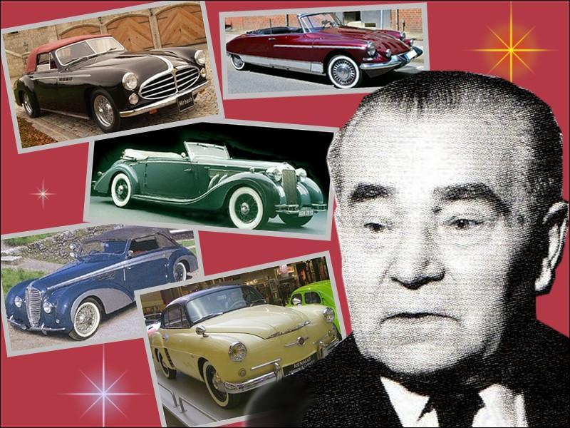 Artiste avant tout, ce carrossier après avoir transformé des modèles de chez Peugeot, Renault, Salmson et Simca est séduit par la nouvelle Citroën DS et crée le cabriolet DS de série...