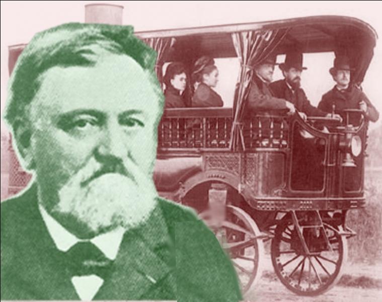 Quel nom portait le premier véhicule routier à vapeur, construit par Amédée Bollée en 1873 ?