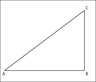 Quel est l'orthocentre de ce triangle ABC rectangle en B ?