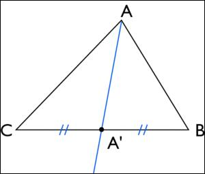 La droite (AA') est une ... du triangle ABC.