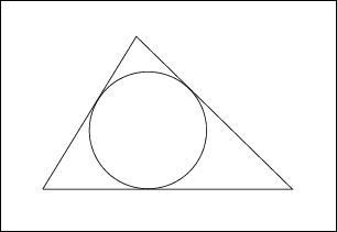 Le cercle inscrit dans un triangle a pour centre le point de concours des ... du triangle.