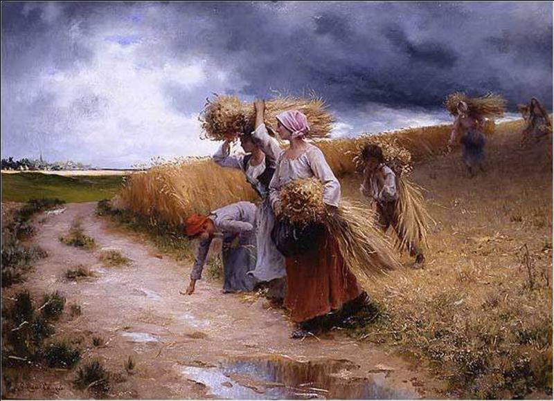 Qui a peint Récolte avant l'orage ?
